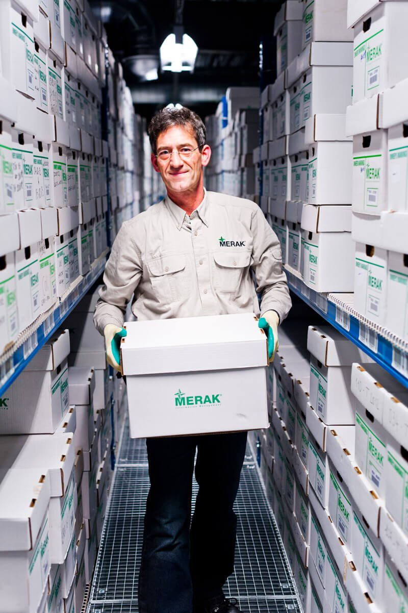 Conservation d'archives chez Merak